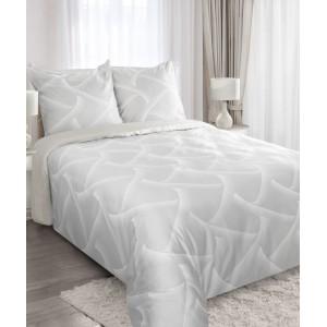 Šedé povlečení z bavlny 200x220 cm