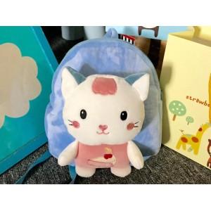 Modrý batoh pro děti s hračkou