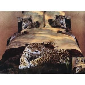 Bavlněné ložní povlečení se vzorem leoparda