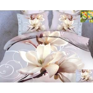Bavlněné ložní povlečení s motivem květu