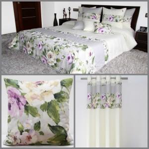 Krémový elegantní dekorační set s motivem růží