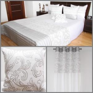 Bílá luxusní dekorační sestava do ložnice