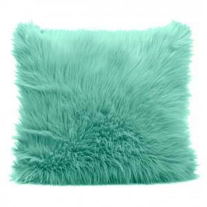 Zelený dekorační povlak na polštář