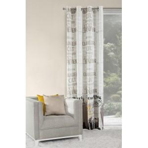 Luxusní šedé závěsy na okna 140x250 cm
