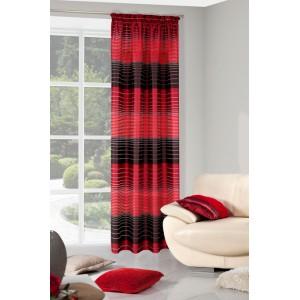 Moderní červené závěsy do ložnice