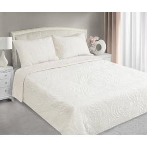 Krémové přehozy na postel s prošívaným motivem