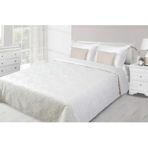 Krémový přehoz na postel s prošívaným motivem