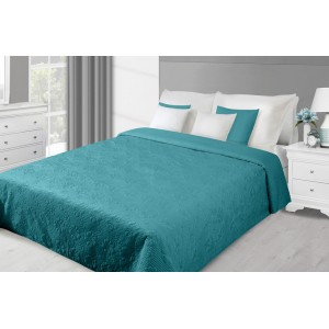 Tyrkysové oboustranné přehozy na manželskou postel