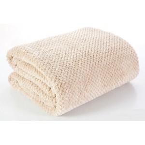 Kvalitní béžové deky na postel 170x210 cm
