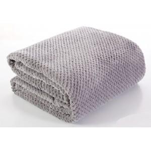 Moderní šedá deka do obýváku