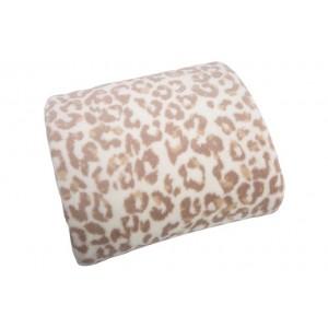 Luxusní krémová deka s gepardím vzorem
