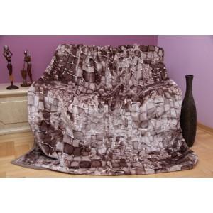 Hrubá béžová deka s motivem kamenů