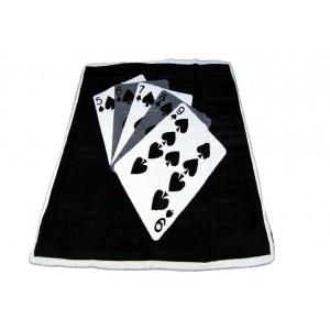 Černá deka s motivem karet