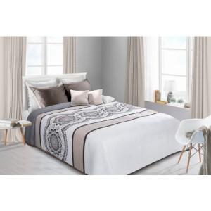 Oboustranné bílé přehozy na postel se vzorem