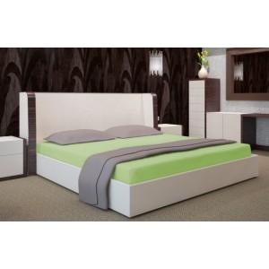 Bavlněná zelená plachta na postel 200x220 cm
