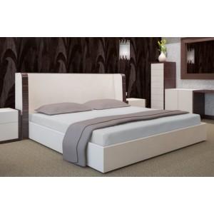 Světle šedé bavlněné prostěradla na postele