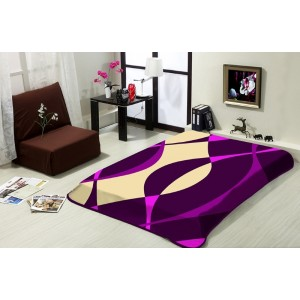 Hebká deka ve fialové barvě