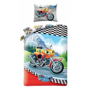 Chlapecké ložní povlečení s motorkou