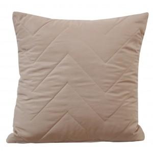 Béžové povlaky na polštáře s prošíváním