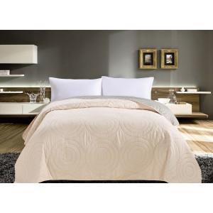 Krémové oboustranné přehozy na postele