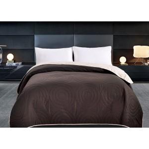 Oboustranné přehozy přes postel hnědé barvy