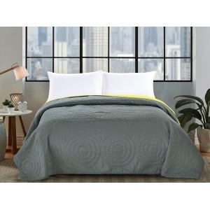 Šedé oboustranné přikrývky na postel 200x220cm