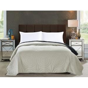Béžová oboustranná přikrývka na manželskou postel