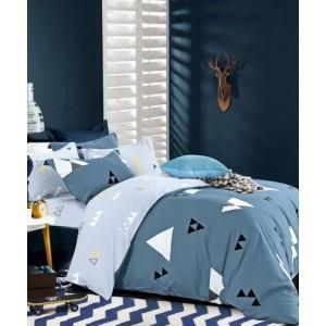 Modré oboustranné ložní prádlo