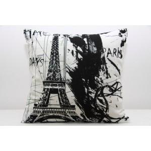 Moderní povlak na polštář s motivem Paříže