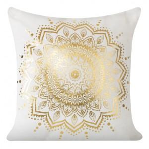 Ozdobné povlaky na polštáře se vzorem zlatého květu