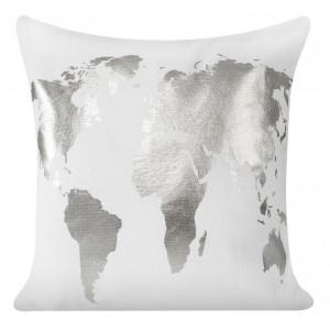 Bílý povlak na polštáře se zlatým vzorem