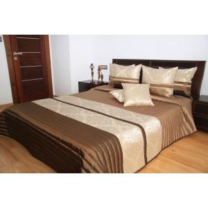 Luxusní hnědé přehozy na postel