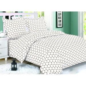 Biele posteľné obliečky so vzorom kruhov
