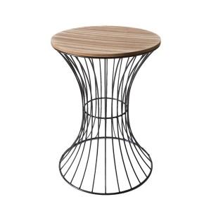 Kovově dřevěné dekorační stolky