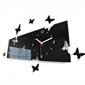 Motýlci nástěnné hodiny z akrylového skla