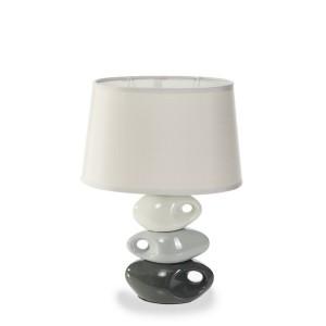 Moderní stolní lampa šedé barvy