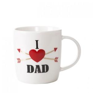 Béžový hrnek s nápisem I LOVE DAD
