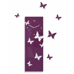 Nástěnné nalepovací hodiny s motivem motýlů