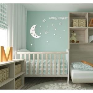 Nalepovací dětské dekorace na stěnu Good night