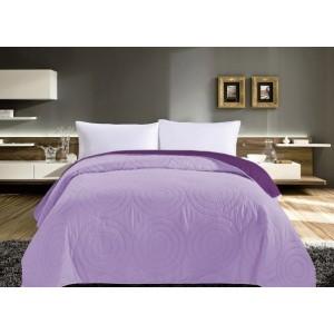 Oboustranné přehozy na postel fialové barvy