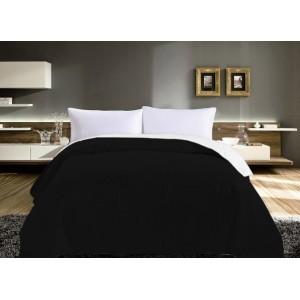 Oboustranné přehozy na postel černo bílé