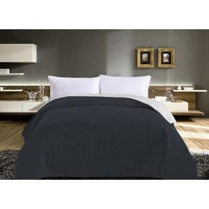 Prošívaný přehoz na postel v šedé barvě