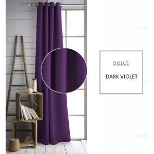 Jednobarevný závěs tmavě fialové barvy