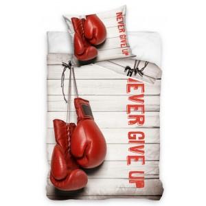 Béžové dětské povlečení s motivem boxerské rukavice