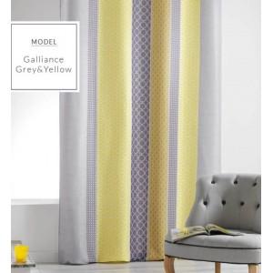 Závěsy v žluté barvě ve skandinávském stylu