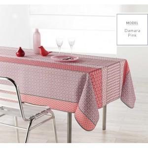 Růžový ubrus na obdélnikový stůl