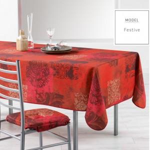 Vánoční ubrus do kuchyně červené barvy