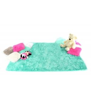 Mentolový kusový koberec