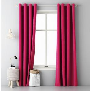 Moderní závěs v růžové barvě