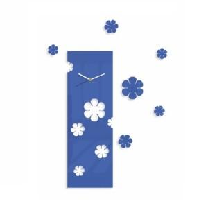Modré nalepovací zrcadla s květinami